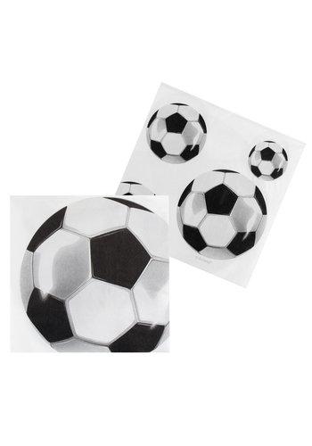 Voetbal Servetten - 33x33cm - 12 stuks