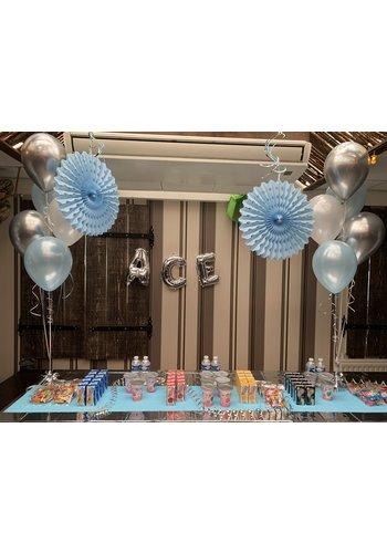 Staander van 5 heliumballonnen