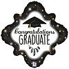 Folieballon - Holographic Diamond Graduation - 46 cm