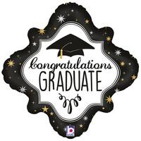 Folieballon - Holographic Diamond Graduation