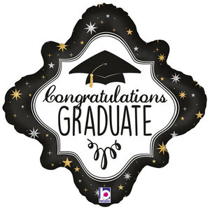 Qualatex Folieballon - Holographic Diamond Graduation