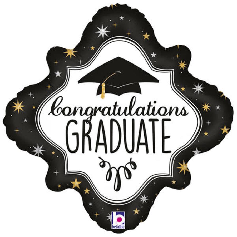 Folieballon - Holographic Diamond Graduation-1