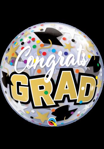Bubble Congrats Grad Dots & Stars - 55cm