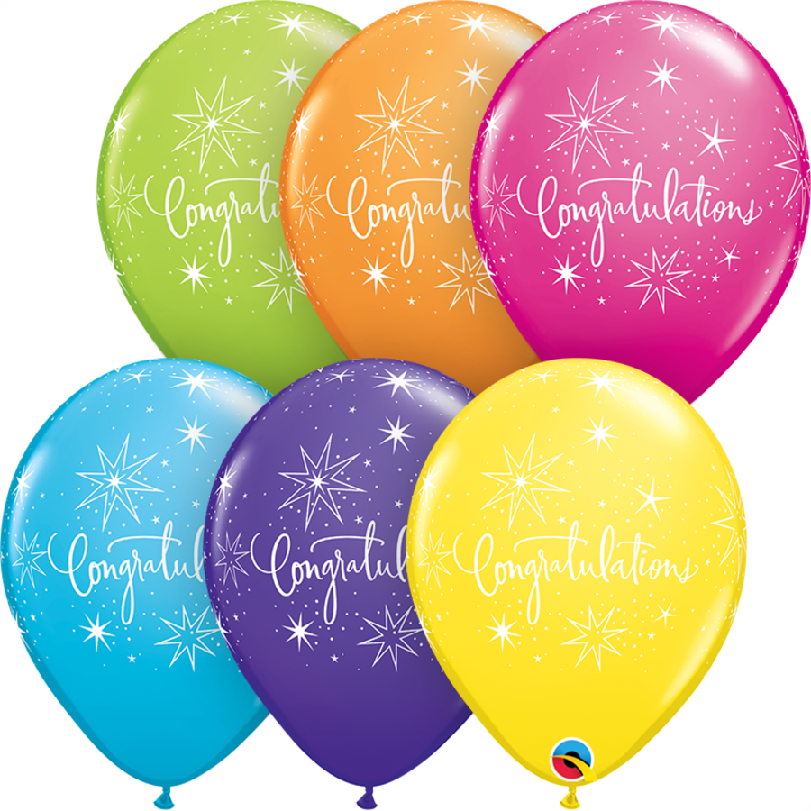 """11"""" Tropical Congratulations - 6 kleuren (28cm)-1"""