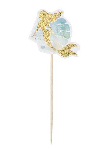 Mermaid Cocktailprikkers - 12 stuks - 12cm