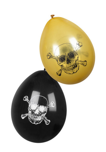Piraten ballonnen - 6 stuks - 25cm
