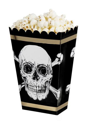 Piraten Popcorn Bakjes - 4 stuks