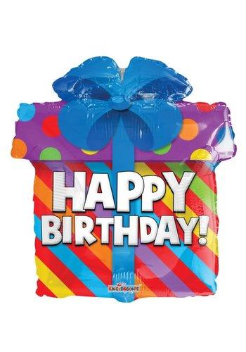 Folieballon Happy Birthday Present