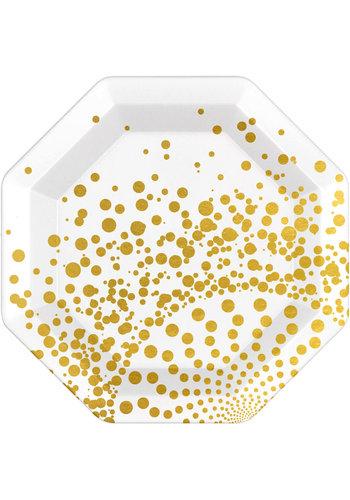 Luxury Gold Bordjes - 23cm - 6 stuks