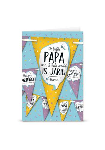 Wenskaart Met Vlaggenlijn- Papa
