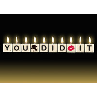 Cadeau kaarsjes - You Did It