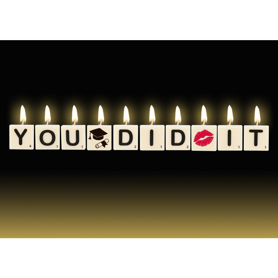 Cadeau kaarsjes - You Did It-1