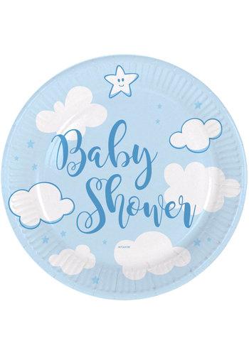 Babyshower Jongen Bordjes - 18cm - 8 stuks