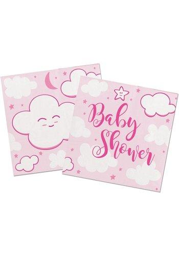 Babyshower Meisje Servetten - 25x25cm - 20 stuks