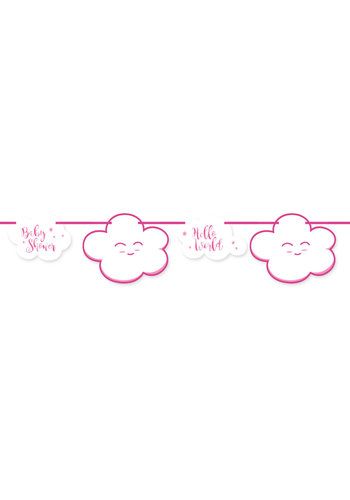 Babyshower Meisje slinger - 4 mtr