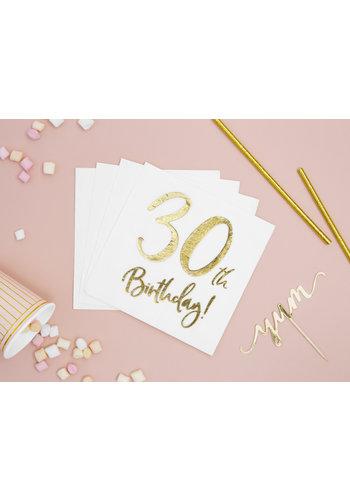 Servetten 30th Birthday - 33x33cm - 20 stuks