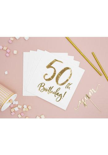 Servetten 50th Birthday - 33x33cm - 20 stuks