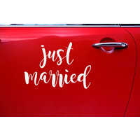 thumb-Auto Sticker Trouwen - Just Married-3
