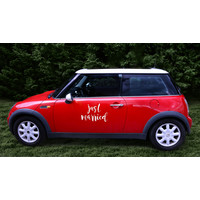 thumb-Auto Sticker Trouwen - Just Married-2