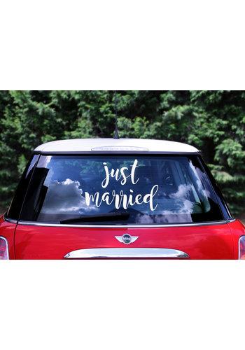 Auto Sticker Trouwen - Just Married