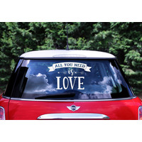 thumb-Auto Sticker Trouwen - All You Need Is Love-1