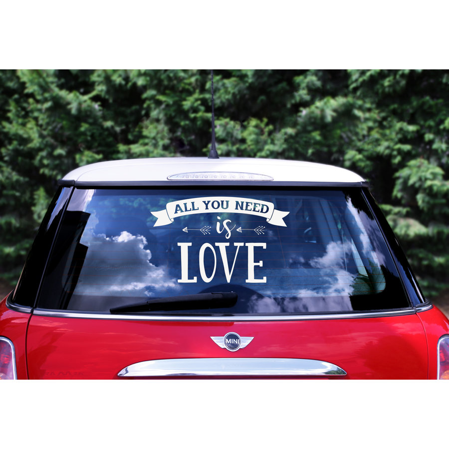 Auto Sticker Trouwen - All You Need Is Love-1