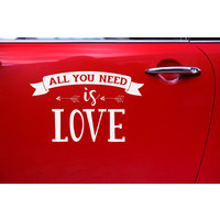 thumb-Auto Sticker Trouwen - All You Need Is Love-3