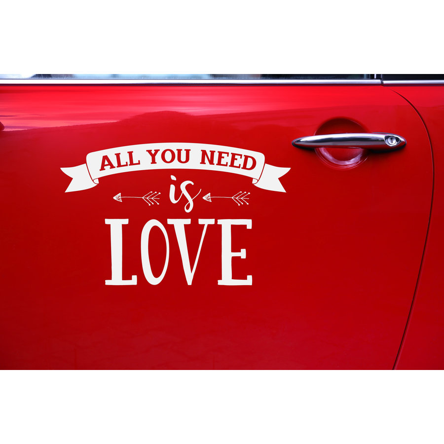 Auto Sticker Trouwen - All You Need Is Love-3