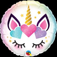 Folieballon Unicorn Eyelashes - 45cm