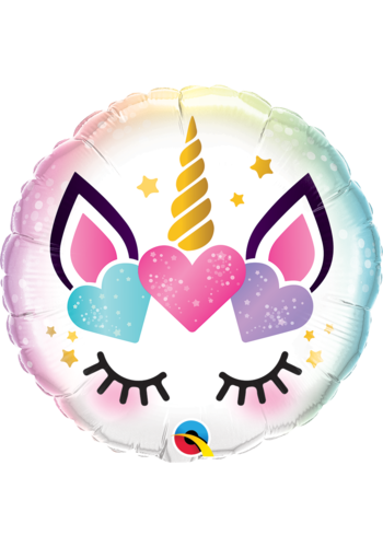 Folieballon Unicorn Eyelashes - 45cm