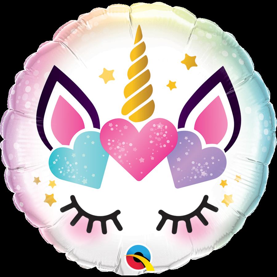 Folieballon Unicorn Eyelashes - 45cm-1