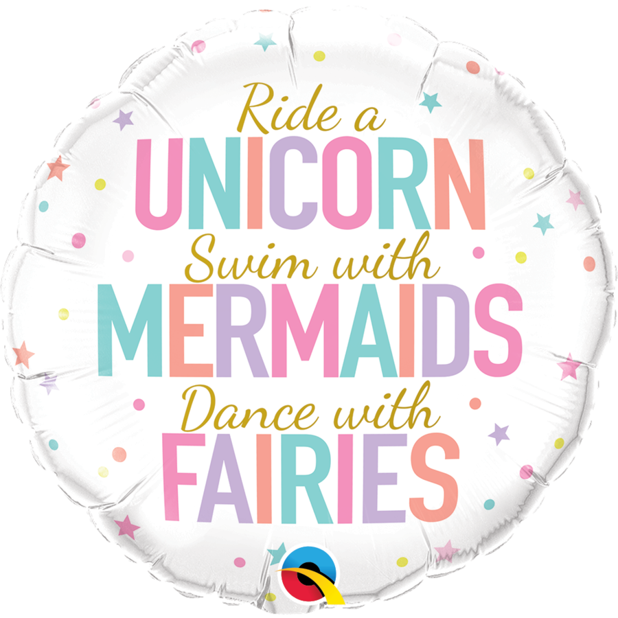 Folieballon Unicorn, Mermaids & Fairies-1