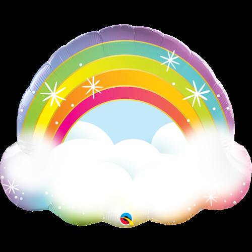 Folieballon Rainbow Cloud - 81 cm