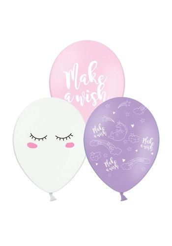 Ballonnen Unicorn - 30cm - 6 stuks