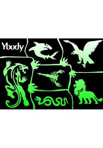 YBody Sjablonen - Wild Animals