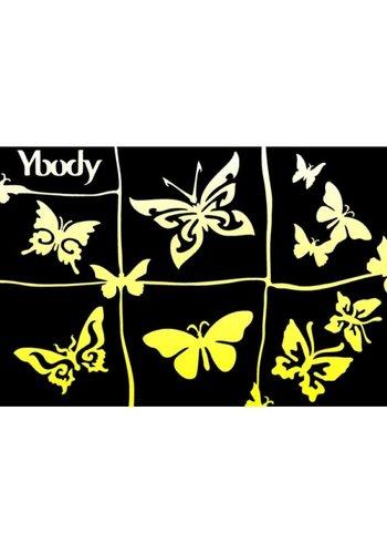 YBody Sjablonen - Butterflies