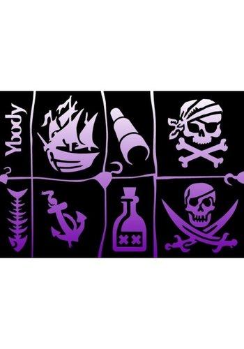 YBody Sjablonen - Pirates