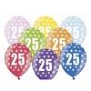 Ballonnen Metallic 25 jaar - 30cm - 6 stuks