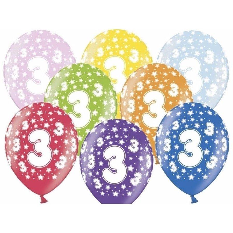 Ballonnen Metallic 3 jaar-1