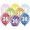 Ballonnen Metallic 30 jaar - 30cm - 6 stuks
