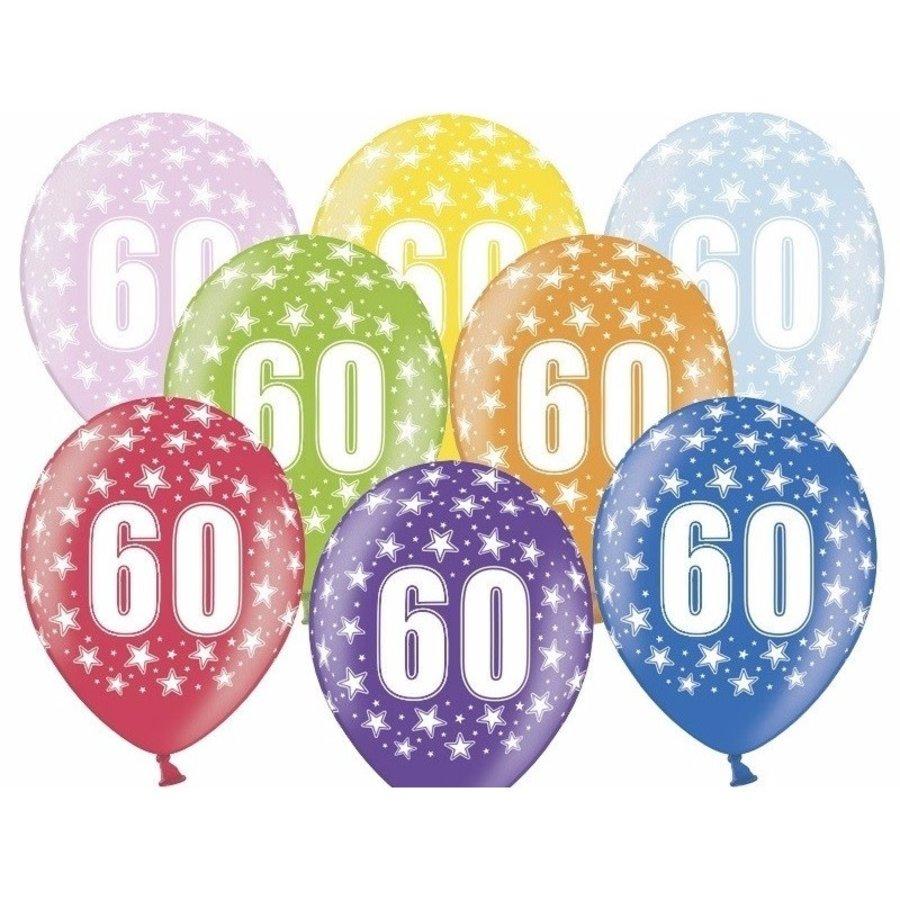 Ballonnen Metallic 60 jaar-1