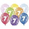 Ballonnen Metallic 7 jaar - 30cm - 6 stuks