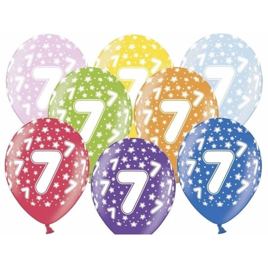 Ballonnen Metallic 7 jaar-1