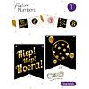 "Festive numbers starter kit ""Hiep Hiep Hoera"""