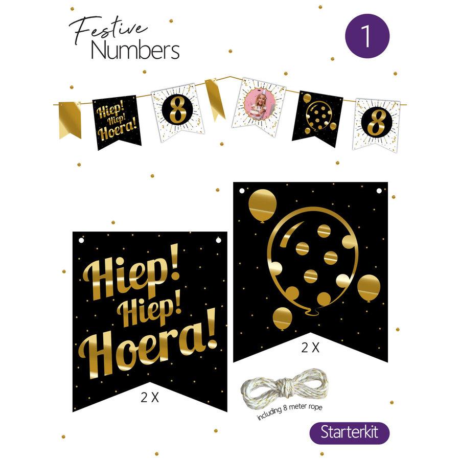 "Festive numbers starter kit ""Hiep Hiep Hoera""-1"