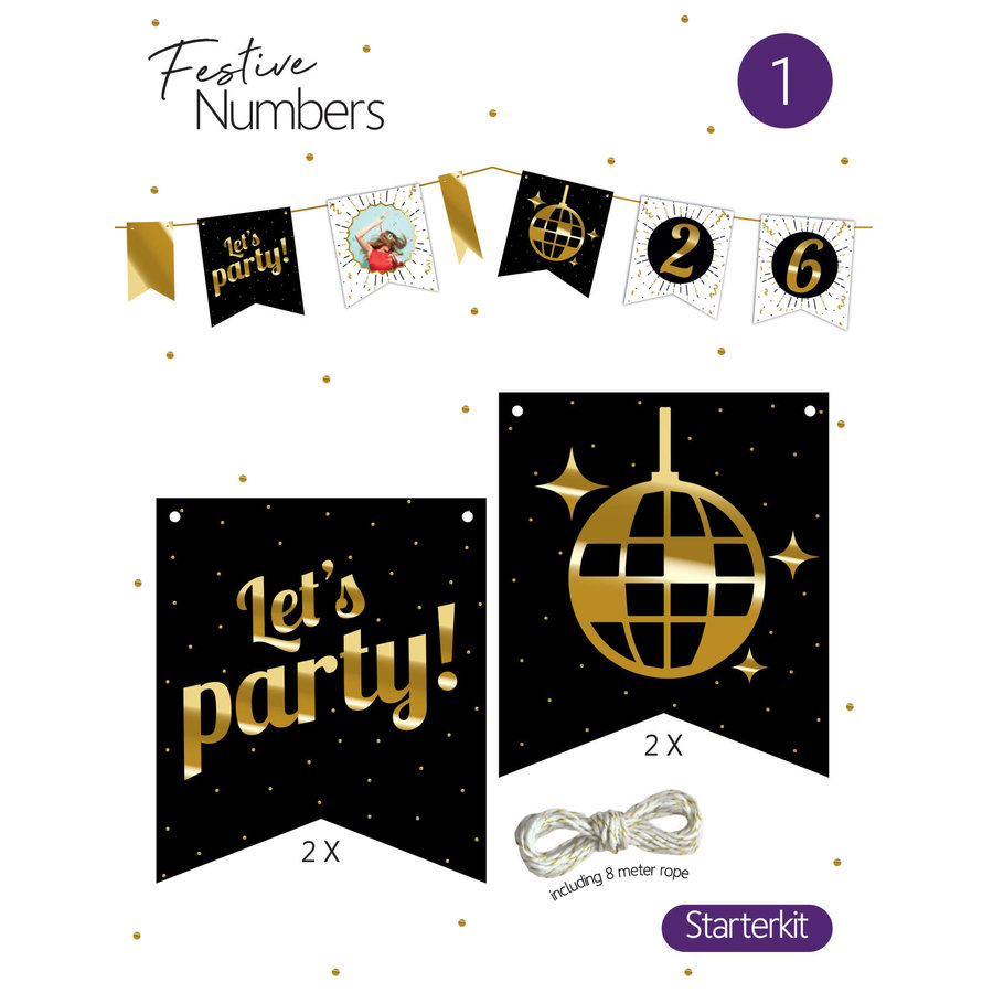 """Festive numbers starter kit """"Let's Party""""-1"""