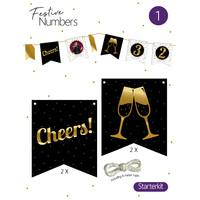 "Festive numbers starter kit ""Cheers"""