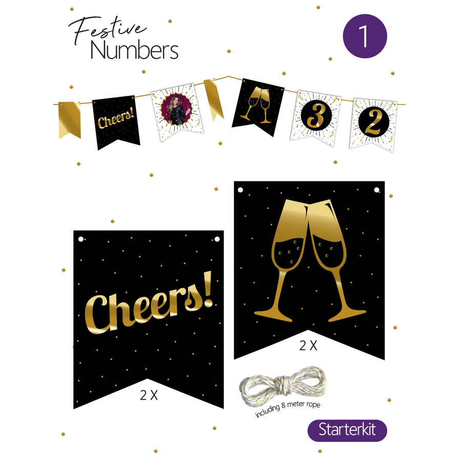 "Festive numbers starter kit ""Cheers""-1"