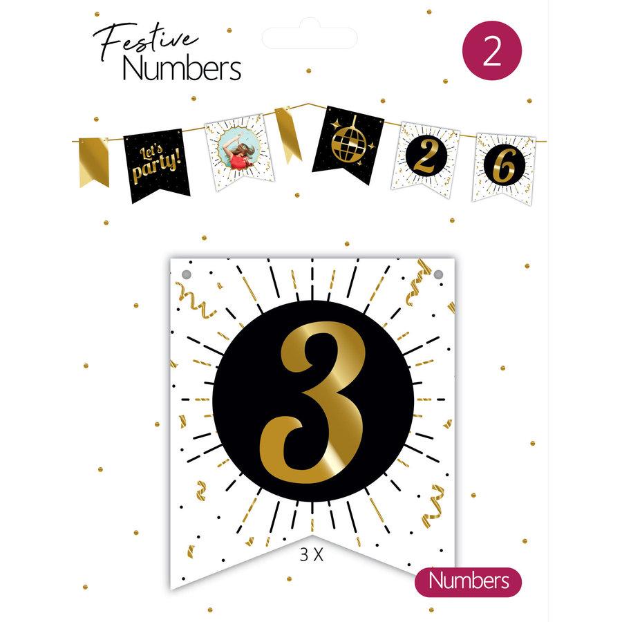"Festive numbers ""3""-1"