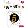 """Festive numbers """"5"""" 3 stuks"""